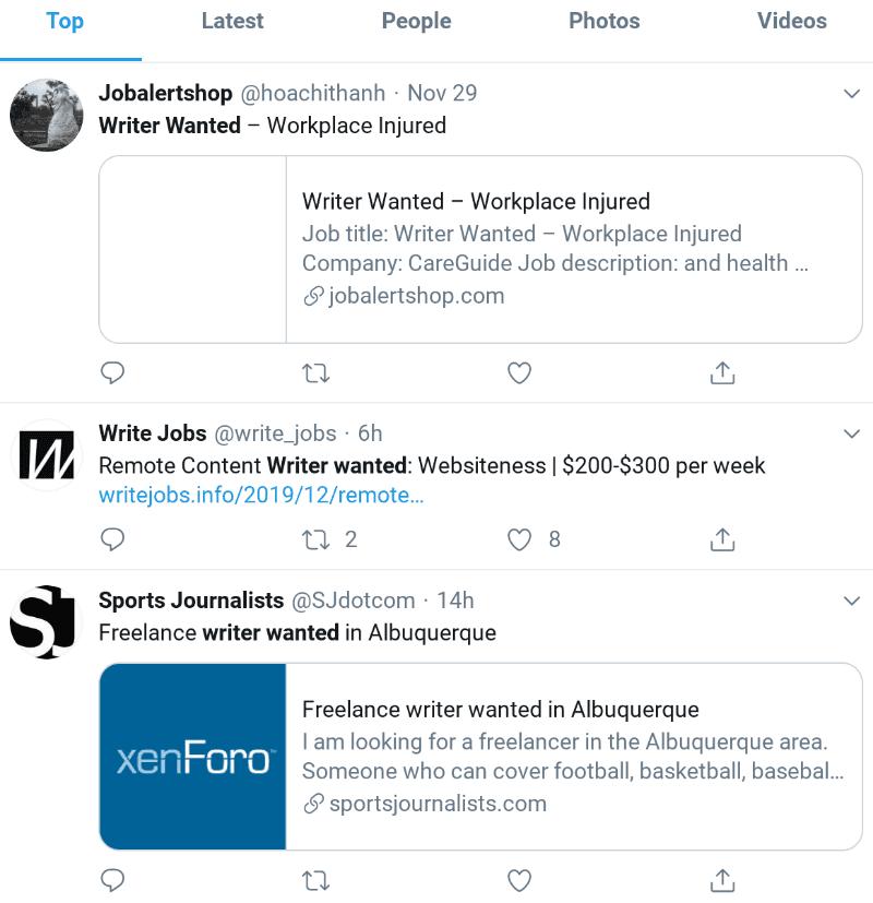Beispiel für erweiterte Twitter-Suche 2