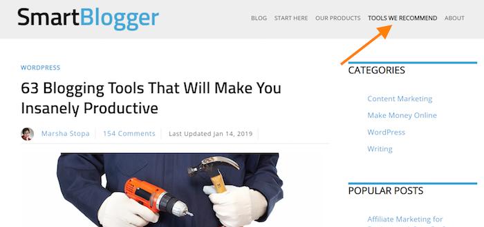 Smartblogger-Ressourcenseite