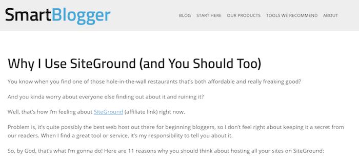 Warum ich Siteground benutze - Smartblogger Review