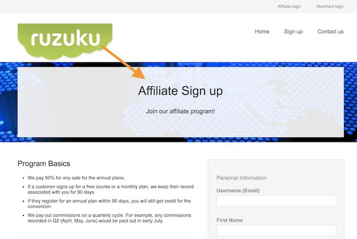Ruzuku - Teilnehmer