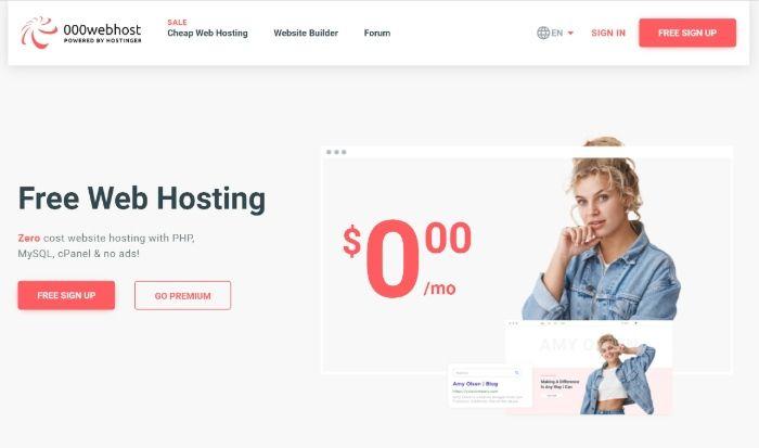 Kostenloses WordPress Hosting - 000webhost