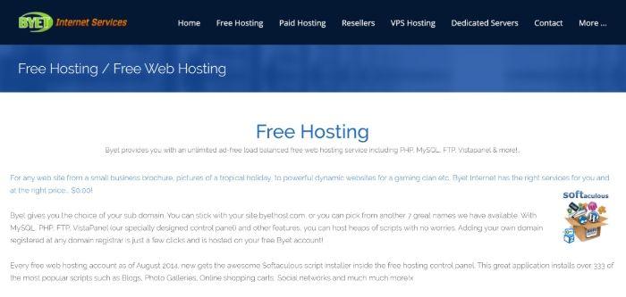 Kostenloses WordPress Hosting - Byet