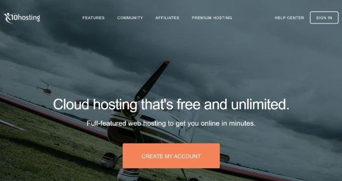 Kostenloses WordPress Hosting - x10Hosting