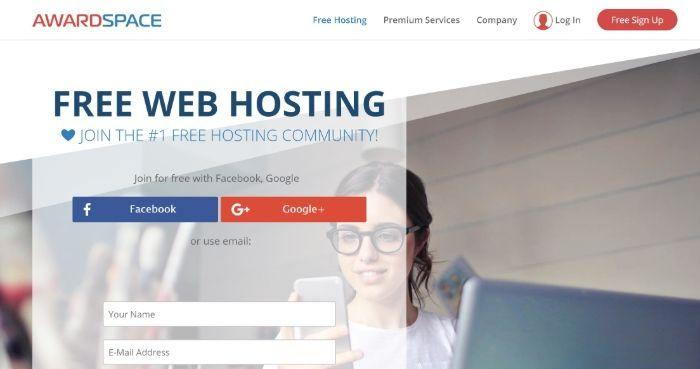 Kostenloses WordPress Hosting - AwardSpace