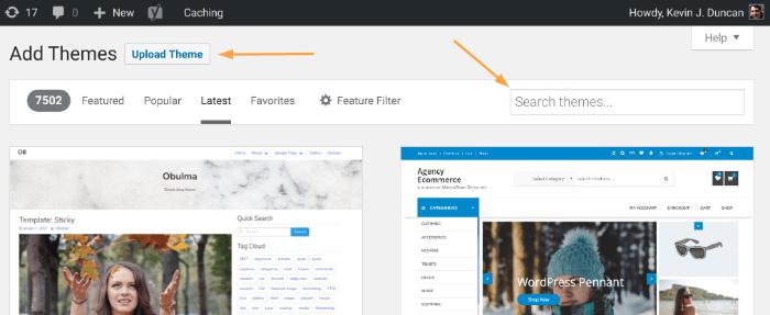 Starten Sie ein Blog - WordPress Theme-Optionen