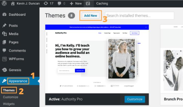 Starten Sie ein Blog - WordPress Theme Schritt 1