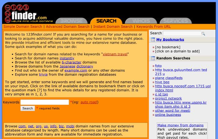 Blog-Namensgenerator 123finder