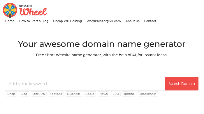 Blog Name Generator Domainwheel