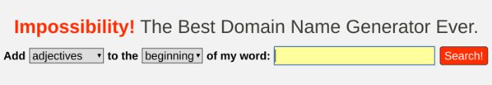 Blog Name Generator Unmöglichkeit