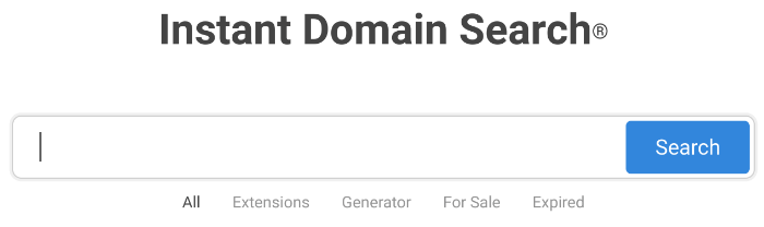 Blog Name Generator sofortige Domain-Suche