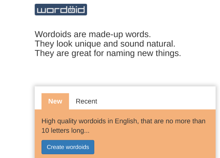 Blog-Namensgenerator wordoid