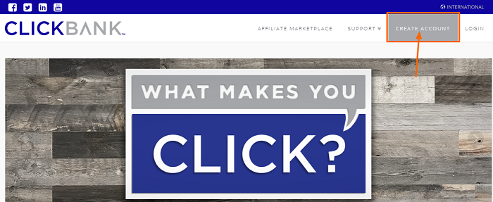 ClickBank-Menü