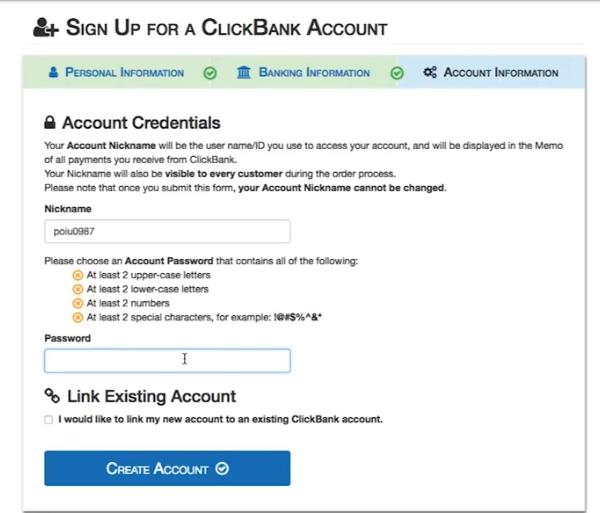 ClickBank-Anmeldestufe 3