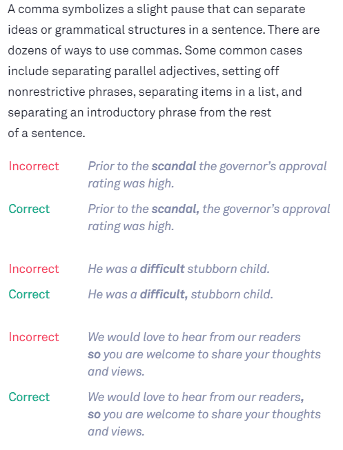 Grammatische Übersicht: Fehlerbeispiel