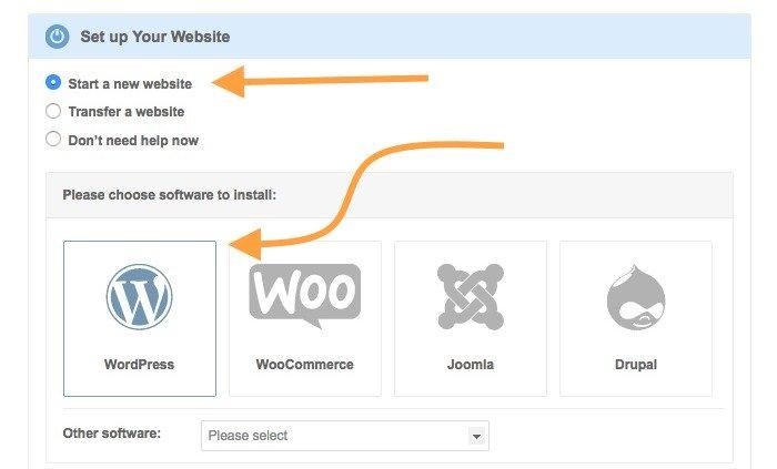 Starten Sie eine Siteground-Website