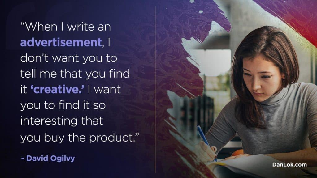 Was ist der Unterschied zwischen Copywriting und Content-Writing-Zitat?